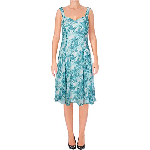 (Connected Apparel Womens Chiffon Sleeveless Sundress Blue 6)
