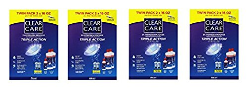 Clear Care 3% Hydrogen peroxide Triple Action Cleaning Triple Action 2x16oz + 3oz Travel Size (4)