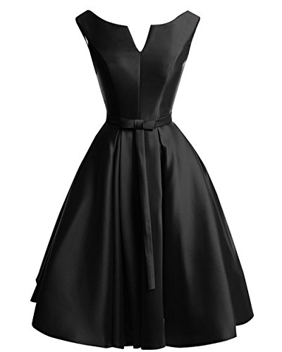 Black Short Bridesmaid A Party Amore Dress Women's Evening Dress line Gown Bridal Yn1qxPqU