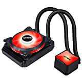 upHere High Performance Water Liquid CPU Cooler with Adjustable 120mm PWM Fan,Red LED (AM4 Compatible) CC1201