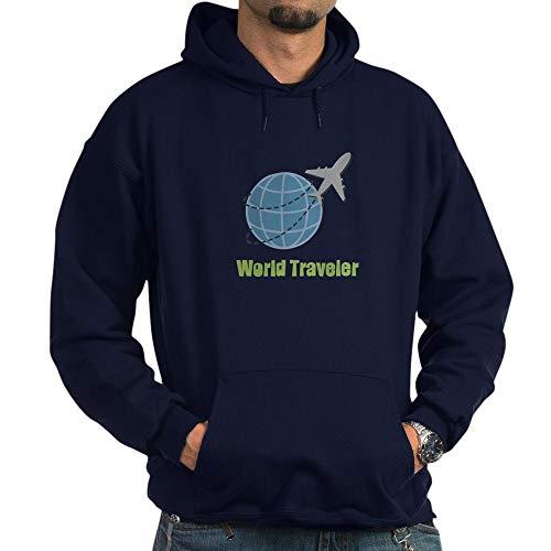Urban Traveler Jacket (CafePress World Traveler Hoodie Pullover Hoodie, Classic & Comfortable Hooded Sweatshirt Navy)