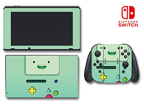 Adventure Time Beemo BMO Jake Controller Gameboy Video Game Vinyl Decal Skin Sticker Cover for Nintendo Switch Console System