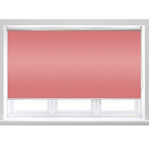ALEKO Roll Up Shade Windscreen Sunshade Blinds 96 X 72 Inches, Pink