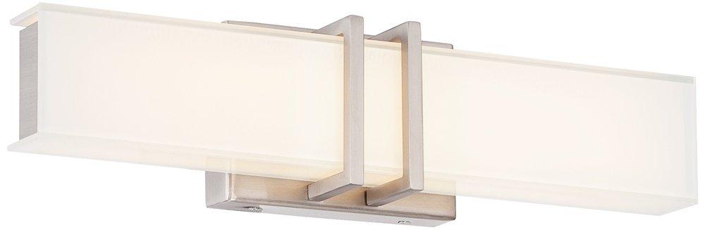 Possini Euro Exeter 3'' Wide LED Nickel Bathroom Light by Possini Euro Design