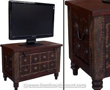 Tv Kolonialmobel Als Fernsehtisch Mit 50x70x40cm Massivholzmobel
