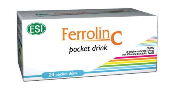 Amazon.com : ESI FERROLIN C Vitamin C, B12 Iron Supplement 30 Pill : Beauty