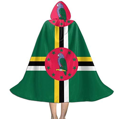 Dominica Flag Kids Hooded Cloak Cape for