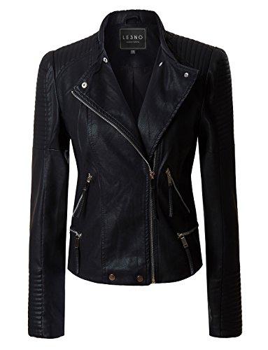 Vintage Leather Moto Jacket - 4