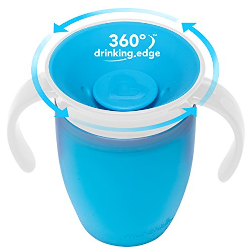 Large Product Image of Munchkin Miracle 360 Trainer Cup, Green/Blue, 7 Ounce, 2 Count