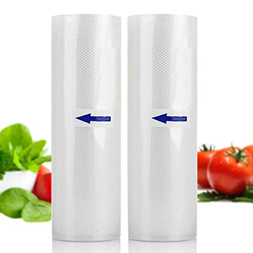 Vacuum Sealer Machine Automatic Sealing Bags Rolls Pack of 2 Food Saver Storage Seal A Meal Sous Vide Cooking Dry Moist Modes (Lucency)