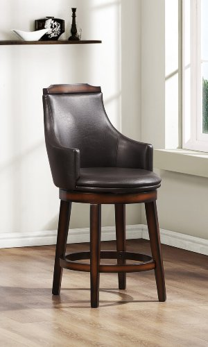 41YyXDn4ThL - Homelegance-Bayshore-Swivel-Counter-Height-Chairs-Set-of-2