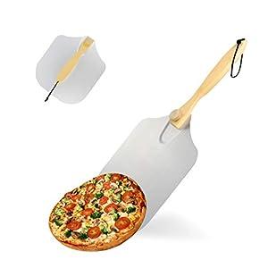 KATELUO Pala per Pizza, Tradizionale Pala per Pizza, Pala per Pizza in Alluminio, Pala per Pizza con Manico in Legno…