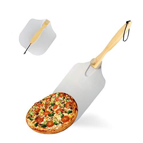 KATELUO Pizza Peel, Aluminium Pizza Peel, Pizza Schop, Pizza Paddle met Ergonomisch handvat, Pizza Spatel voor het…