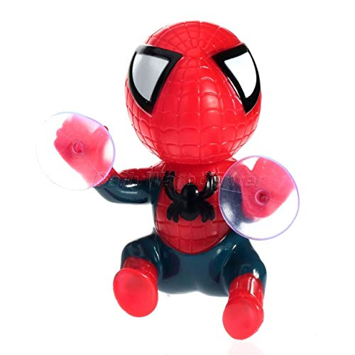 - Daphot-Store - Car Sticker Climbing 3D Spiderman Suction Cup Doll Toy 360 Degree Rotating Car Home Interior Decoration Car Styling Cute