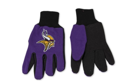 (NFL Minnesota Vikings Two-Tone Gloves, Purple/Black)