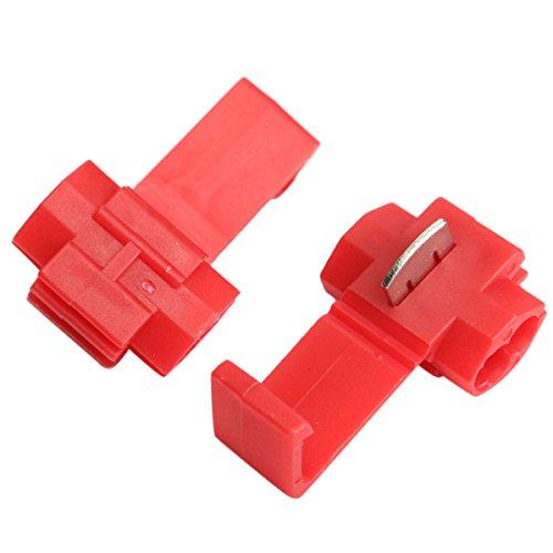 CocinaCo 50pcs Lock Wire Electrical Cable Connector Quick Splice Terminals Crimp for Car ()