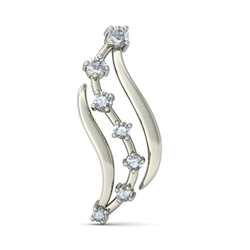 Or blanc 18 K 0.206 CT TW Round-cut-diamond (IJ | SI) Boucles d'oreille à tige