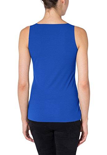 Pure Wolford Mujer Camiseta Top Glow Para Blue Mangas Sin ddnTrYv5W