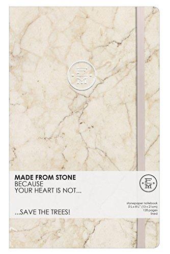 Stone Paper Notebook 13x21cm, Terra Cotta
