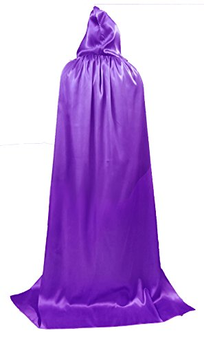 Female Devil Costume Pictures (Women Hooded Cloak Role Cape Play Full length Costumes lavender X Large)
