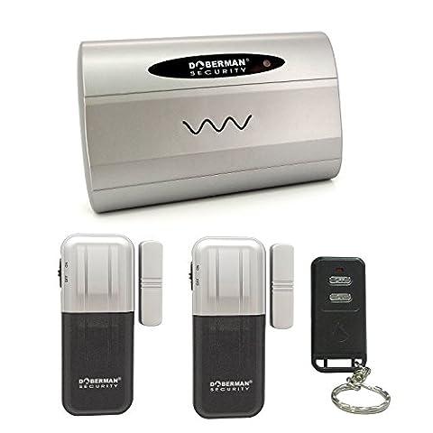 Doberman Security SE-159 Wireless Door/Window Security Set (Silver) (Doberman Door Alarm With Remote)