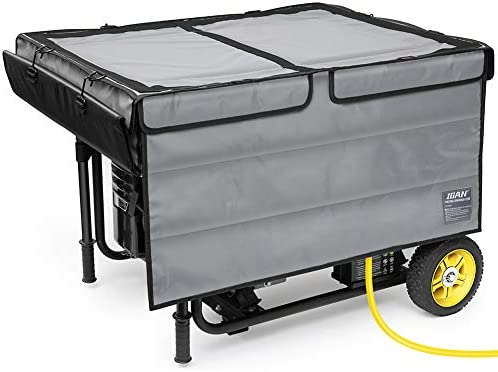 IGAN Generator Tent Running Cover, Ultra Heavy Duty Tarpaulin Enclosure, Portable All-Weather Generator Rain Shelter for Most 3500w-12000w turbines, Gray-1