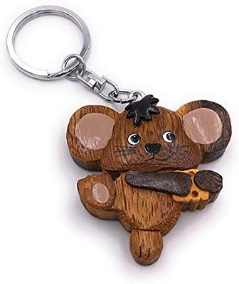 Onwomania Llavero de Madera Queso ratón roedor Animal ...