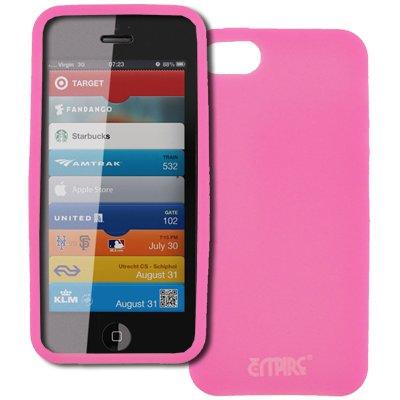 Empire Apple iPhone 5 Case Étui Coque Flexible Silicone Skin Pink Rosa Glows in the Dark Vert + Voiture Dashboard Mont