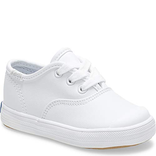 Keds Champion Lace Toe Cap Sneaker (Infant/Toddler),White,3 Infant M