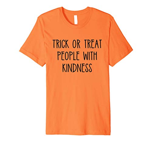 Trick or Treat People With Kindness Shirt Halloween Teacher