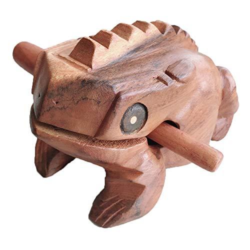 AMECH 6 Inch Wooden Handicraft Frog Animal Bird File Sound Wood Toy Musical -