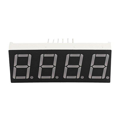 eDealMax Horloge 4 Bit 12 Pin 0,56 pouces Rect Commune Anode LED Rouge numérique Tube d'affichage