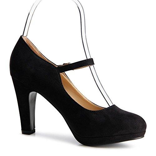 topschuhe24 - Zapatos de vestir para mujer Negro - negro