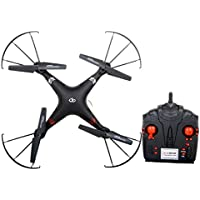 AOB WIFI Drone, 4 channel WIFI quadcopter with Built in Camera to take Pictures & record Videos, 2.4 GHz System, 6-axis Gyro, Long distance control, App & Remote controlled, BLACK