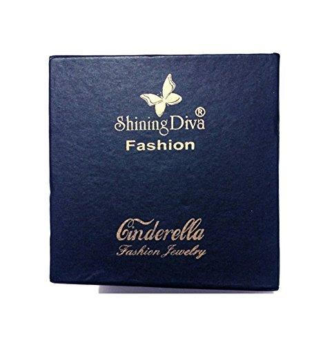 Shining Diva Fashion Latest Design 18k Rose Gold Stylish Bracelet Earrings Combo Jewellery For Women and Girls