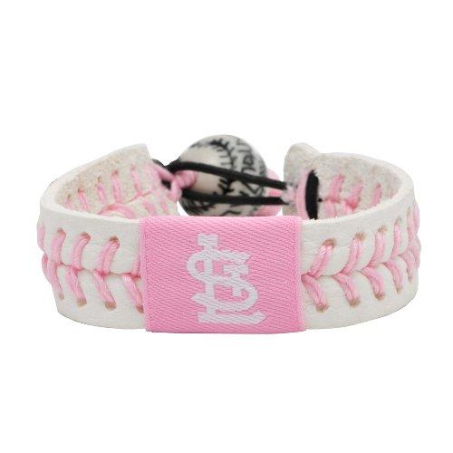 (MLB St. Louis Cardinals Pink Baseball Bracelet)