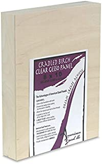 product image for American Easel Clear Gessoed Wood Panel - 5'' x 7'', 1-5/8'' Profile, Cradled