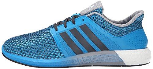 fd4ae1aa8abdb adidas Performance Men s Solar Boost M Running Shoe Solar Blue Black Mid  Grey - 10