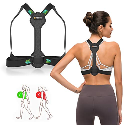 Posture Corrector – Upper Back Posture Corrector for Men/Women – Back Braces for Posture Correction – Comfortable Wear – Breathable and Durable Neoprene – Back Brace for Lower Back Pain (L)