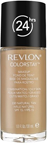 Revlon Colorstay Makeup for Combination/Oily Skin SPF 15, Natural Tan, 1 Fluid Ounce