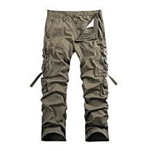 Men's Cotton Casual Military Army Cargo Camo Combat Work Pants