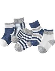 DEBAIJIA Niños Niñas Calcetines De Algodón Cómodo Suave Jogging Absorben el Sudor Antibacteriano primavera verano otoño - Pack de 5 Pares