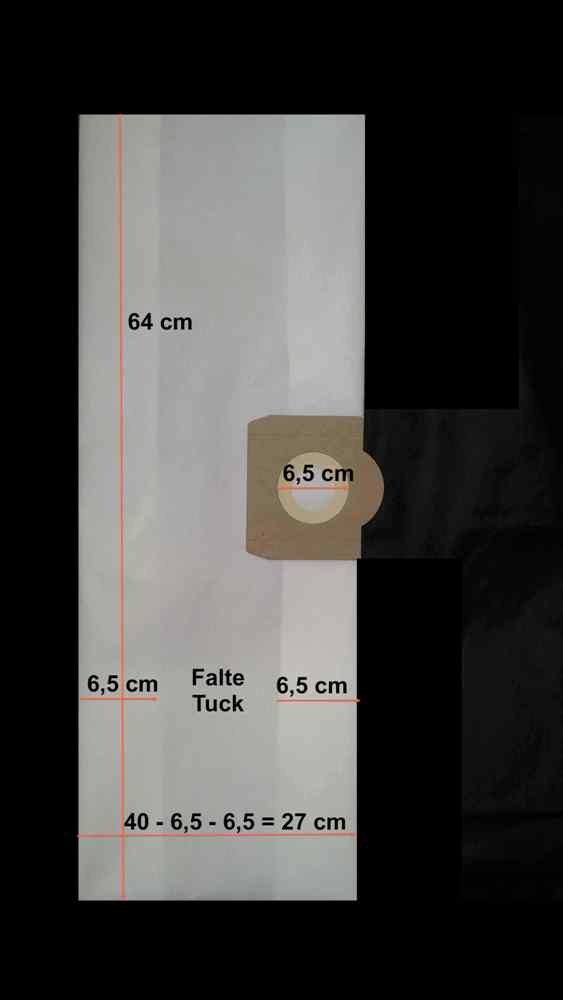 Top Craft NT 0506 ,pour aspirateur FIF 3x Les sacs renforc/és /à 6 couches pour la poussi/ère de construction Aldi mastic, pl/âtre, etc.