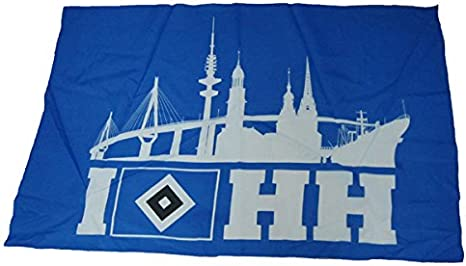 Hsv Hamburg Sv Hoisted Flag Banner Skyline 120 Cm X 80 Cm 2 Eyelets Amazon Co Uk Sports Outdoors
