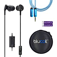 Audio-Technica ATH-ANC33iS QuietPoint Active Noise-Cancelling In-Ear Headphone - INCLUDES- Blucoil Earbud Case AND 6 ft Extender PLUS 2-Pack AAA Batteries - ALL YOU NEED BUNDLE