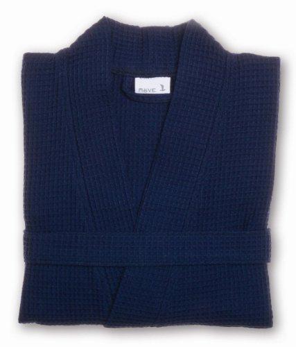 Möve 276120663596_L Homewear - Kimono (piqué, talla L), color azul