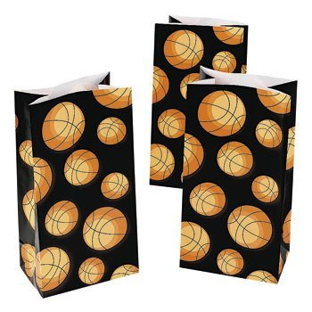 Basketball Treat Bags - 12 ct (10 Great Playoff Games)