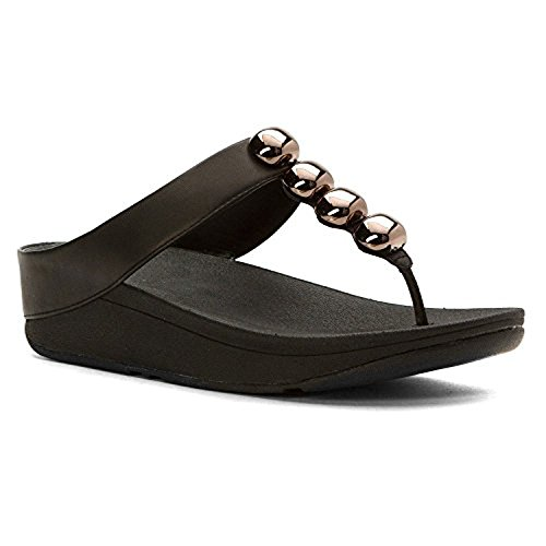 Fitflop Donna Rola Sandali Infradito In Pelle E Hdo Sport Travel Sunscreen (15 Spf) Spray Nero