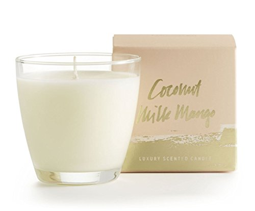 Illume, Candle Coconut MLK Mngo Demi Boxed Glass, 1 Count (Coconut Glasses)