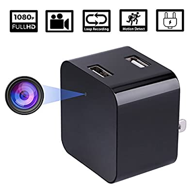 Hidden Camera - JAKIELAX Spy Camera Adapter- 1080P HD USB Charger Camera with Motion Detection and Loop Recording Free Flash Transfer Stick for Protection and Surveillance of Your Home and Office from JAKIELAX